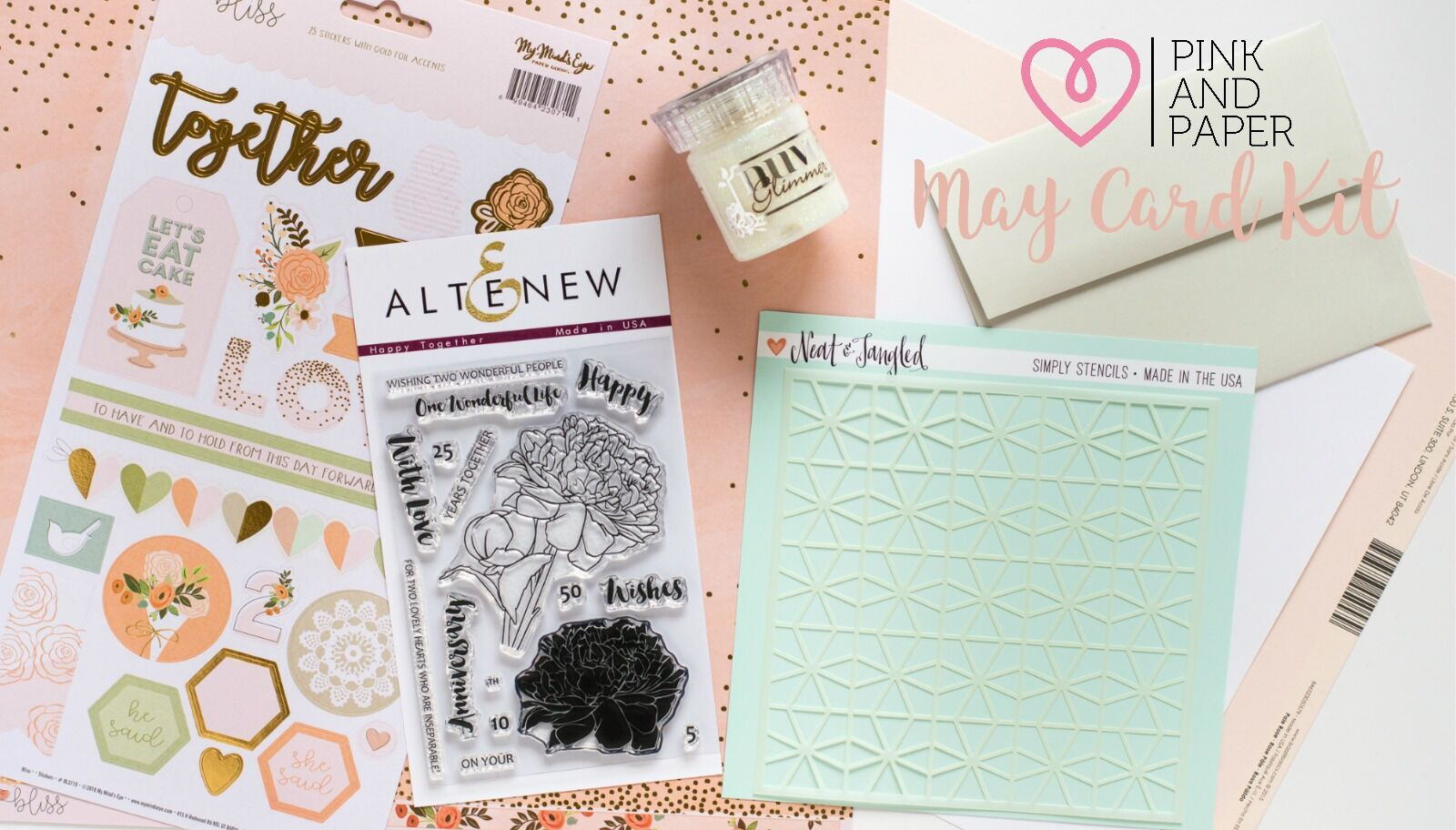 Pink and Paper May Card Kit